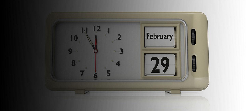 Leap year clock.