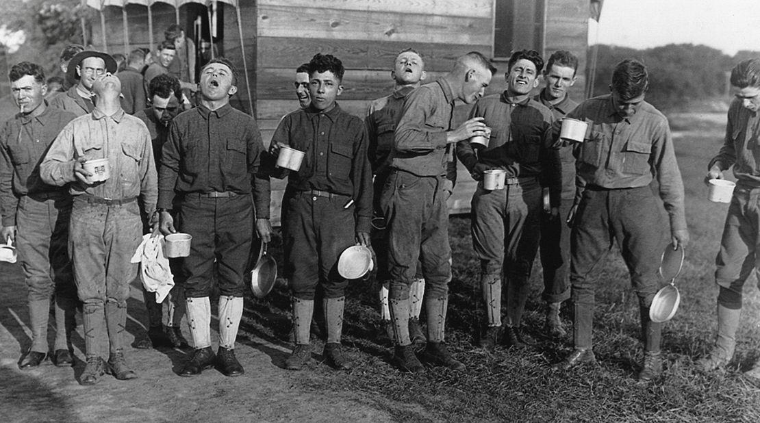 vintage photo during influenza outbreak