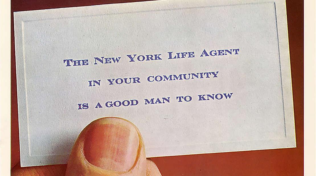 New york life vintage advertisement.