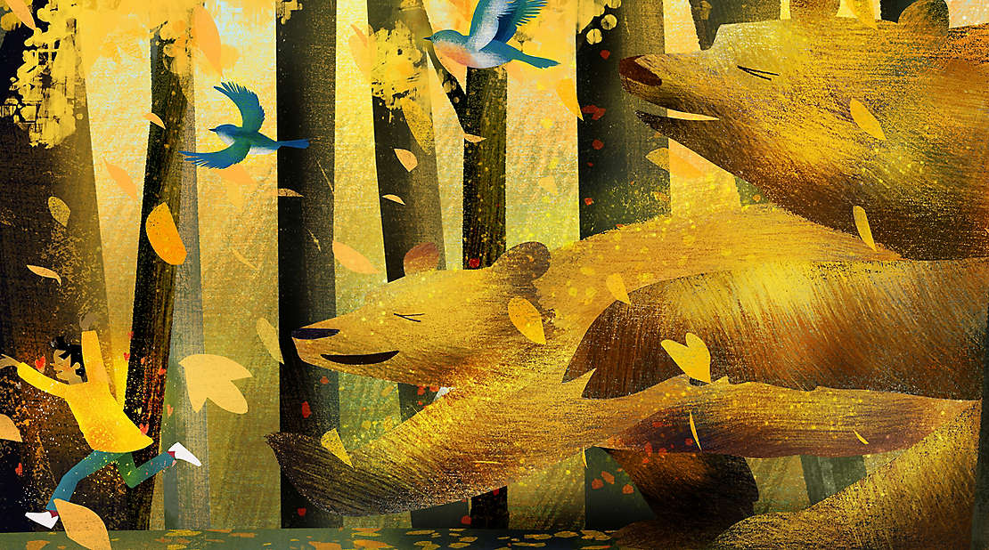 Golden Sweater book illustration