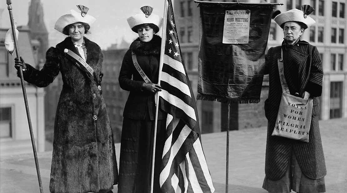 Three american women suffragists.