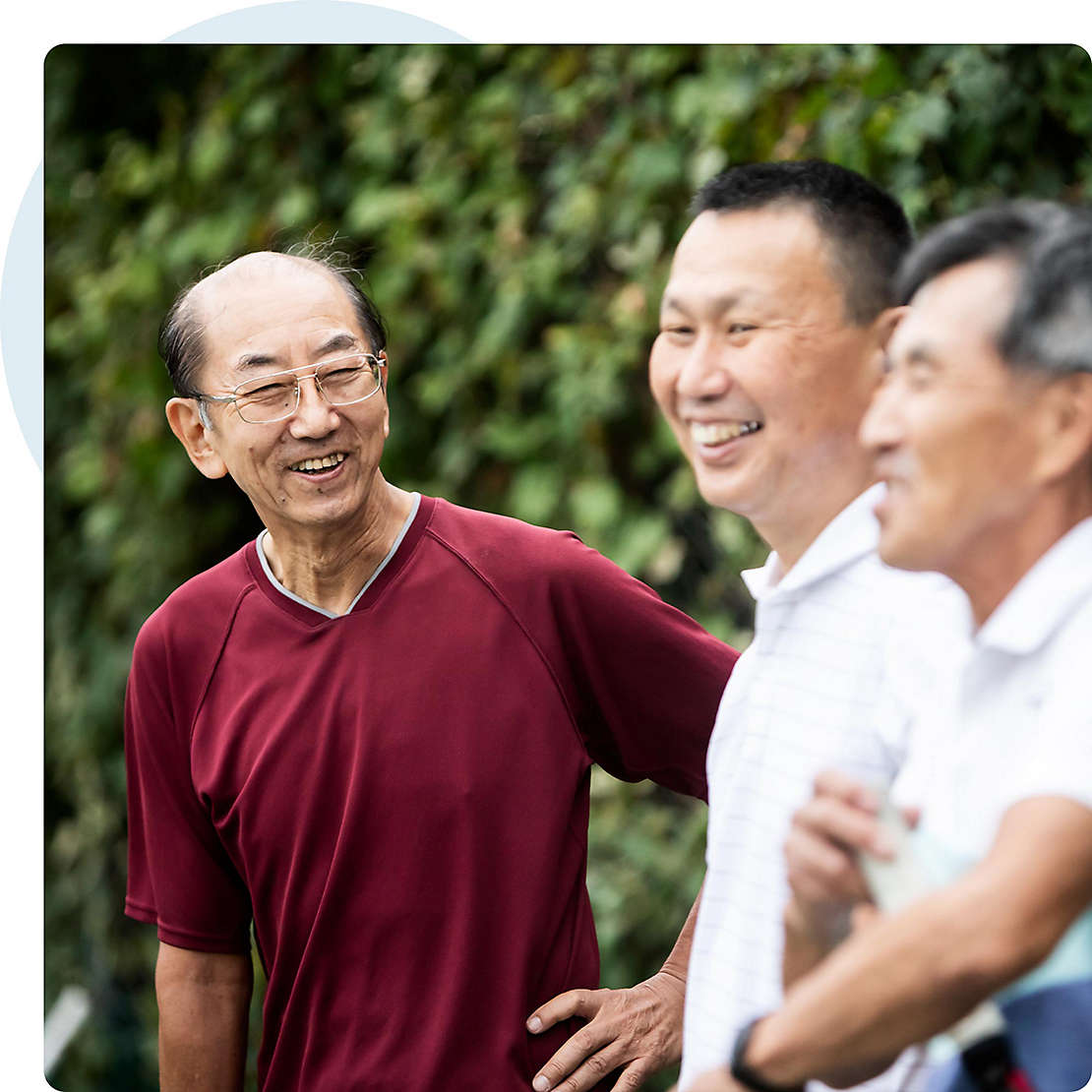 Asian american seniors laughing