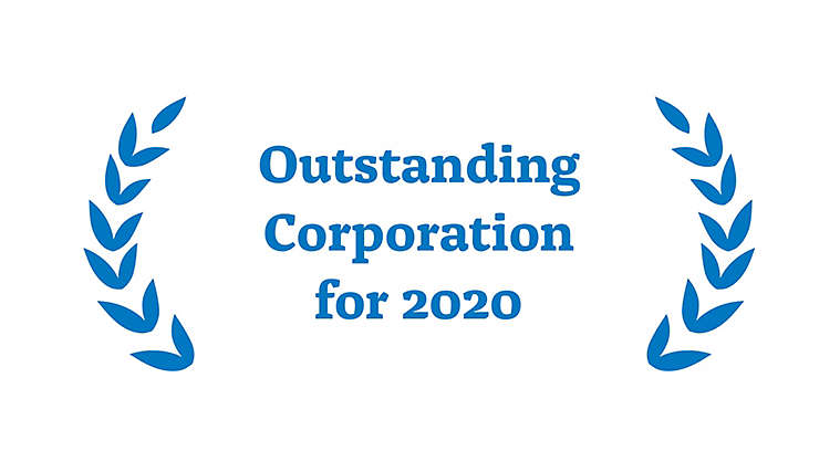Award for Outstanding Corporation for 2020
