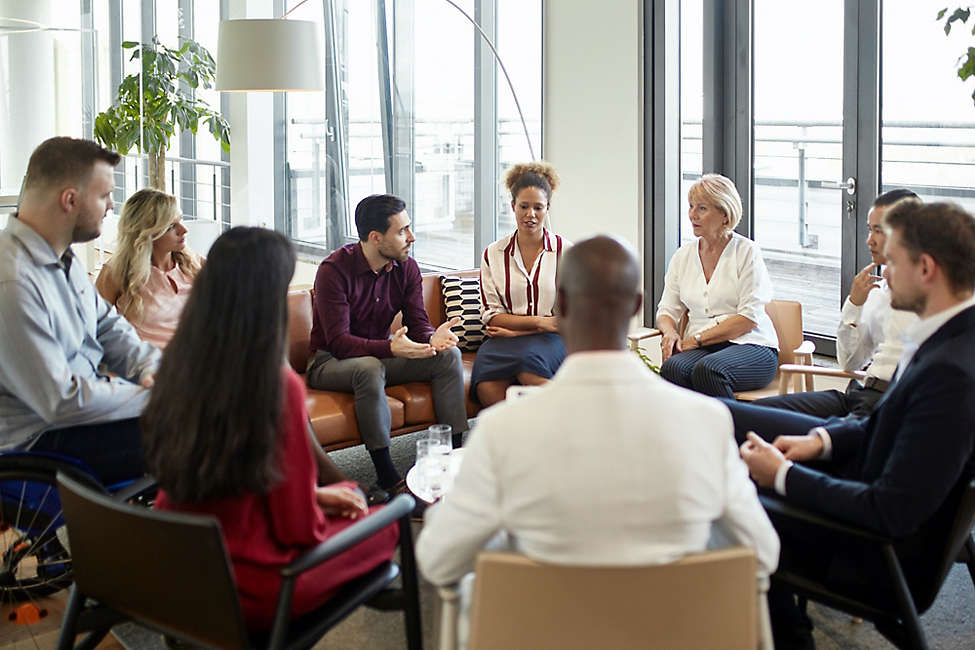 Corporate group discussion