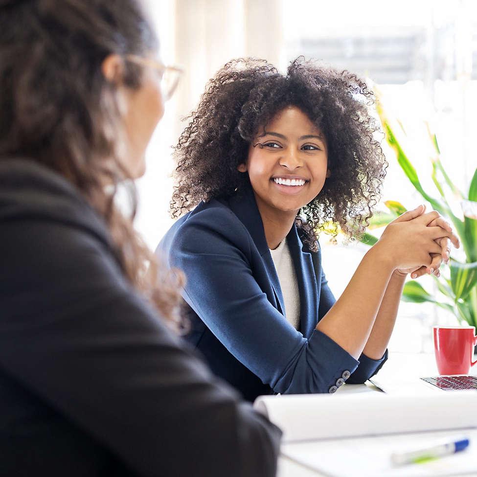 Corporate women meeting