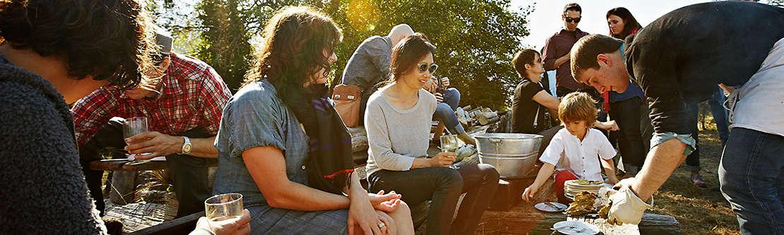 Diverse community picnic