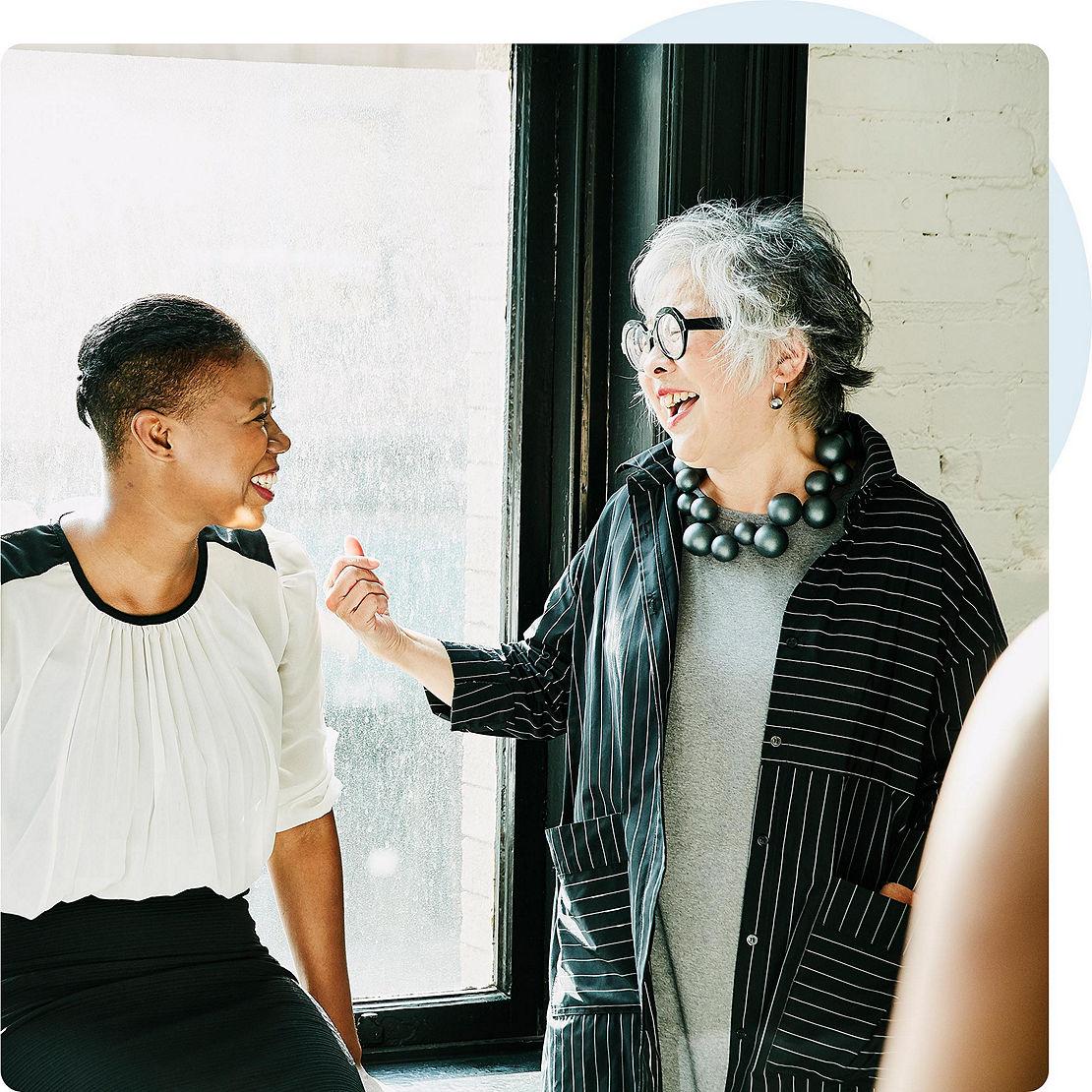 Diverse women in casual conversation