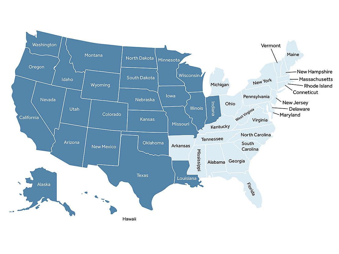 GBS Regional Sales Team Map