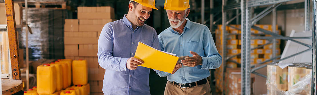 Workers in hardhats
