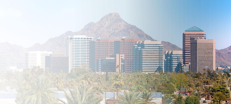 Skyline of greater Arizona