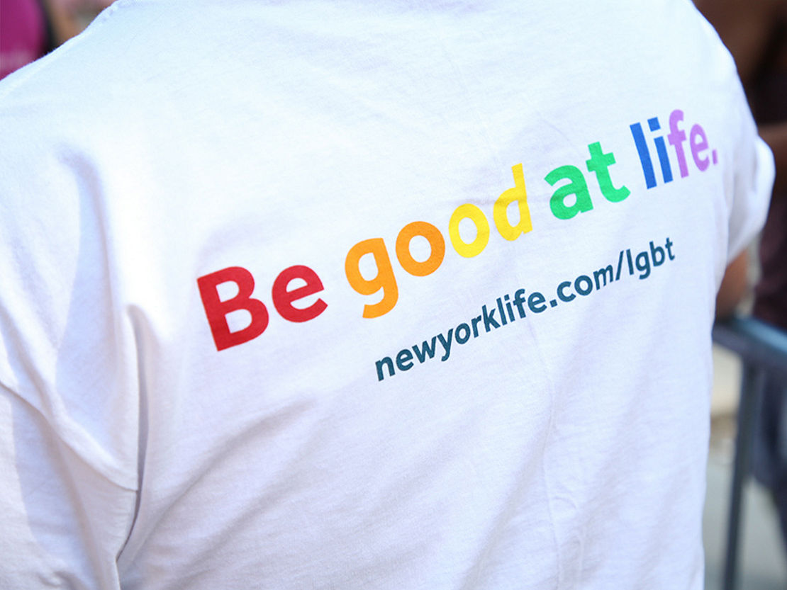 New York Life Pride Festival t-shirt celebrates the LGBTQ+ community