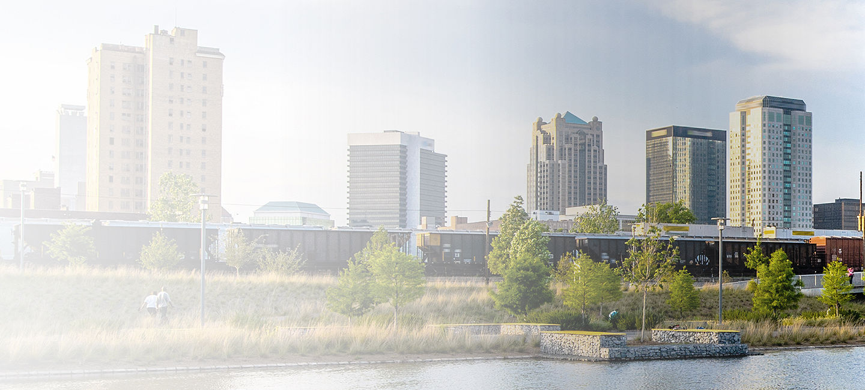 Skyline of greater Birmingham