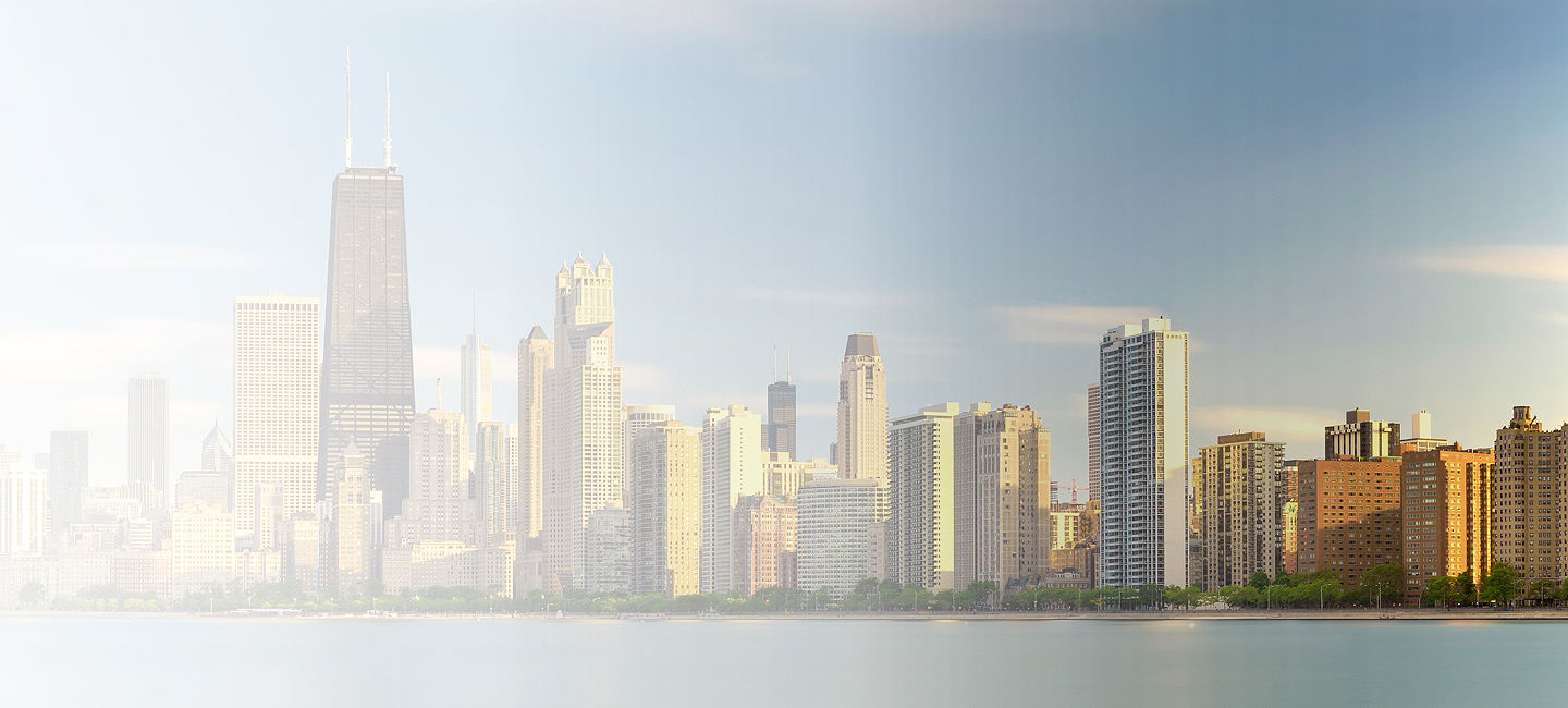 Skyline of greater Chicago North Shore