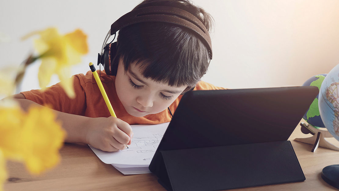 Child learning at home