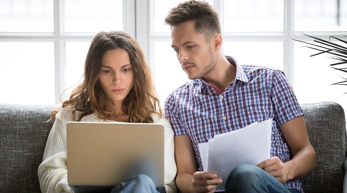couple deciding on insurance plans