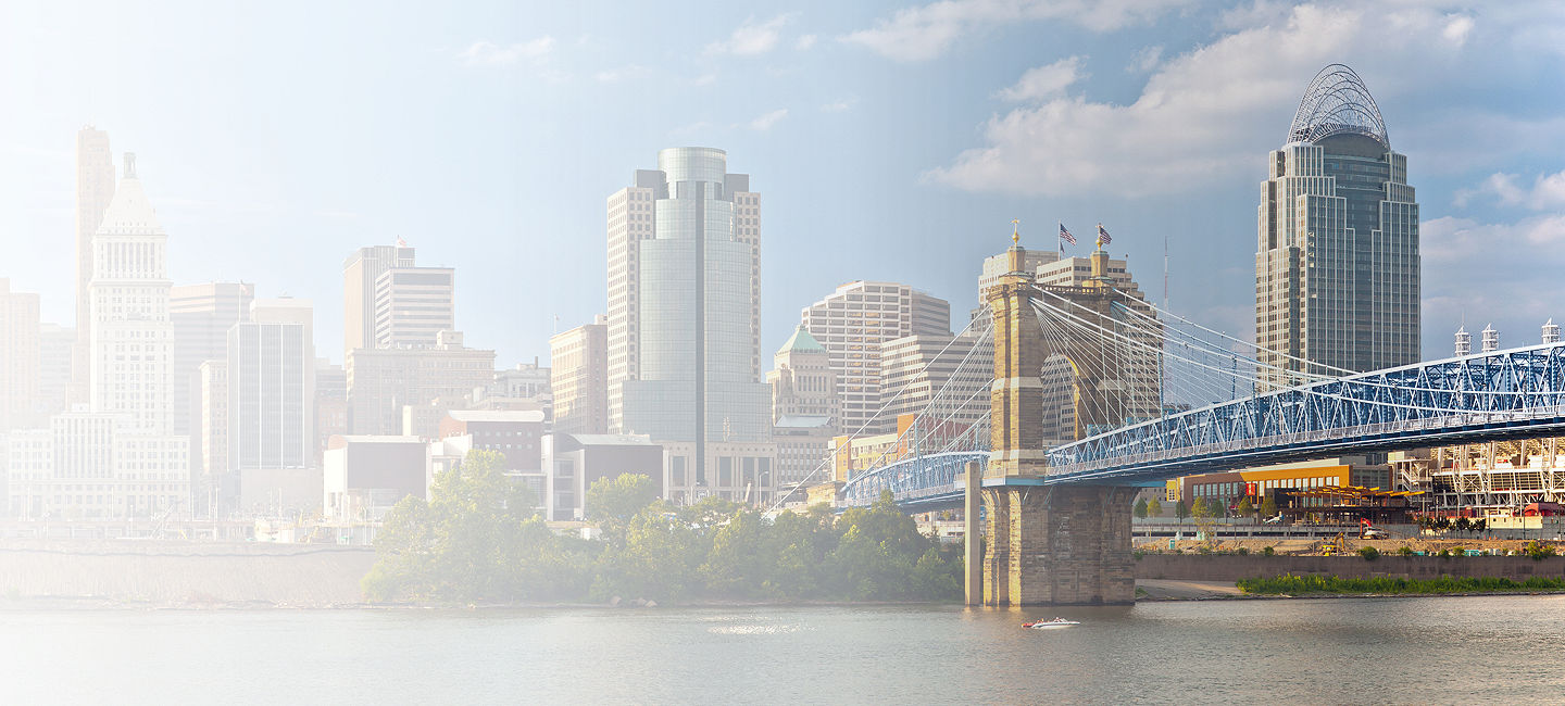 Skyline of greater Cincinnati