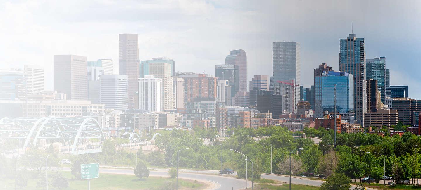 Skyline of greater Colorado