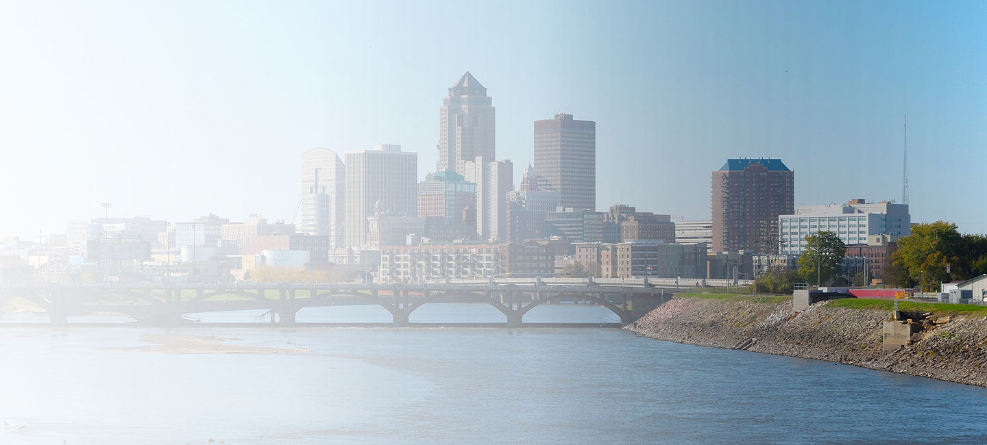 Skyline of greater Des Moines