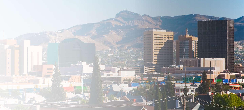 Skyline of greater El Paso