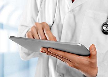 Doctor using an Ipad