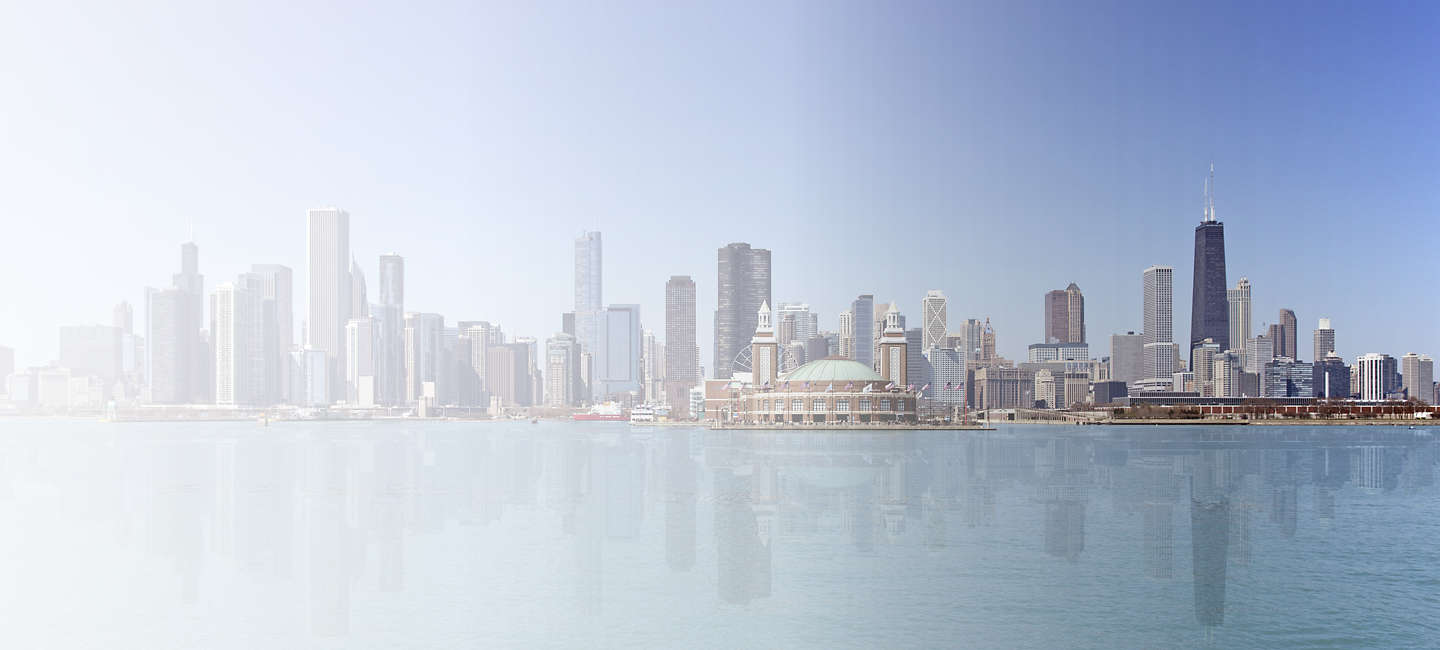 Skyline of greater Greater Chicago