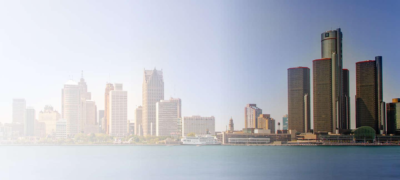 Cityscape of Detriot