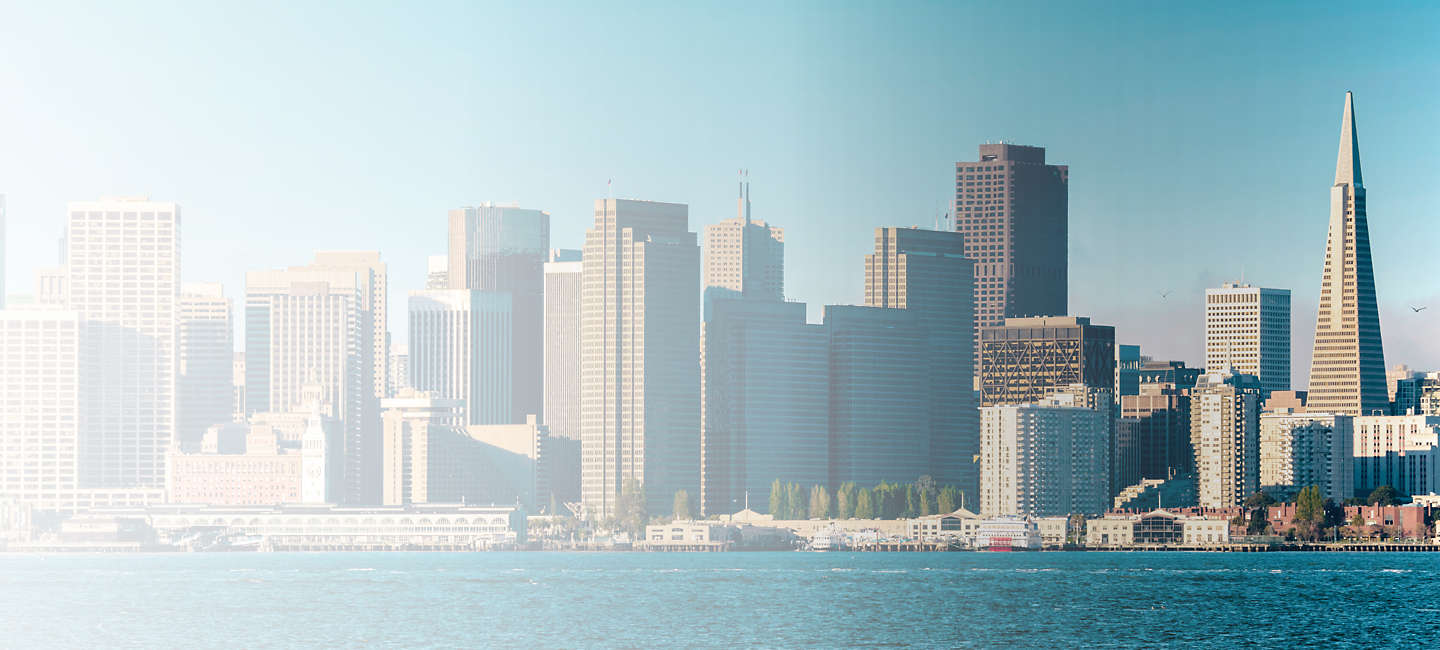 Skyline of greater Greater San Francisco