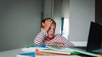 grieving child learning online