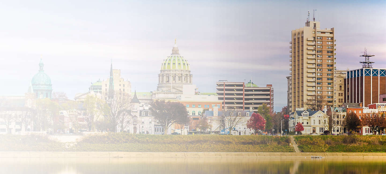 Cityscape of Harrisburg