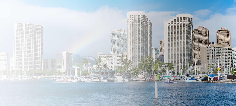 Skyline of greater Hawaii