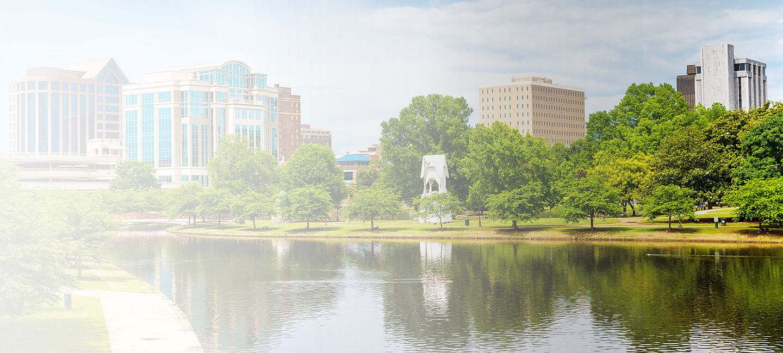 Skyline of greater Huntsville
