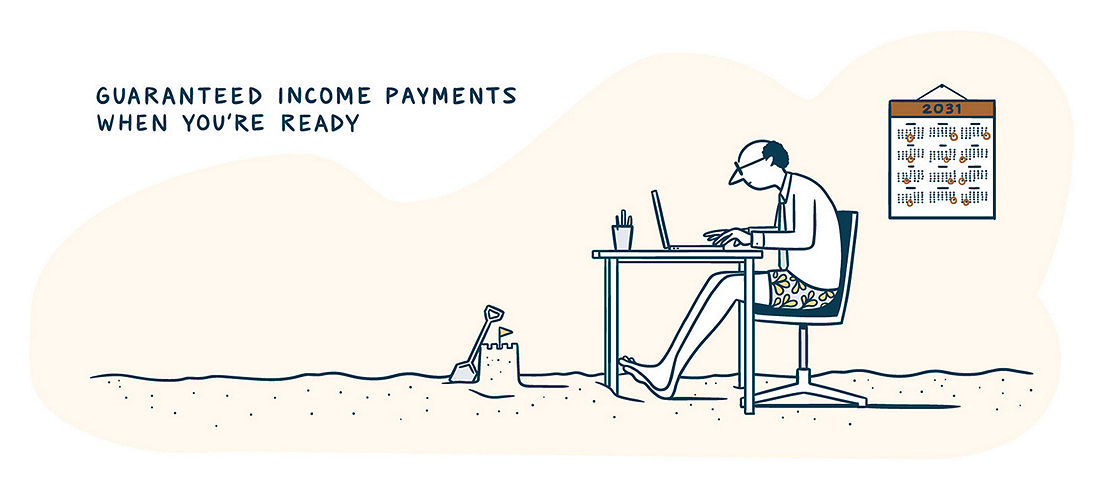 Guaranteed income payments when you're ready