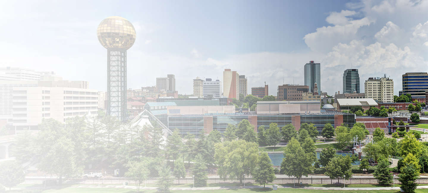 Skyline of greater Knoxville