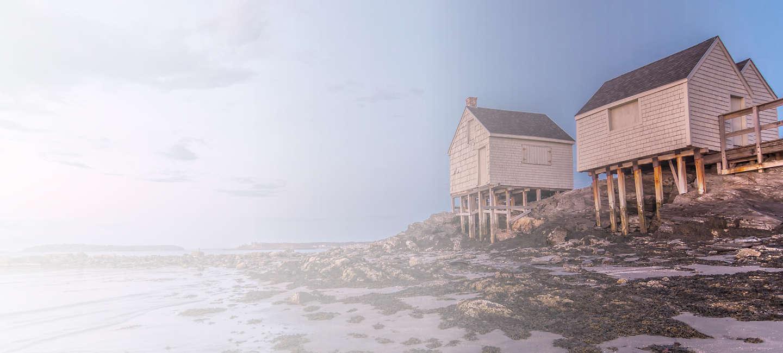 Skyline of greater Maine
