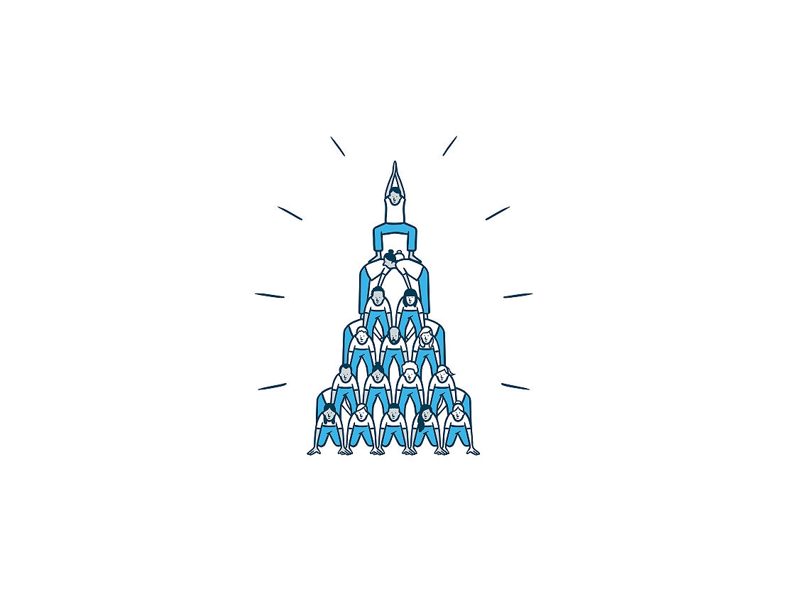 New York Life illustration people pyramid