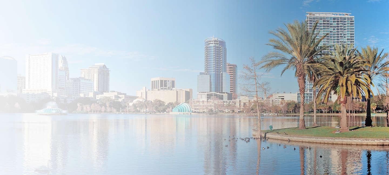 Skyline of greater Orlando
