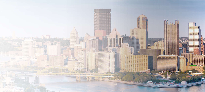 Skyline of greater Pittsburgh-Johnstown