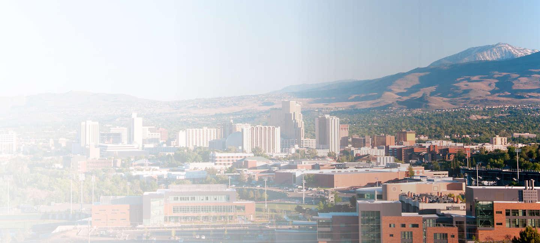 Skyline of greater Reno