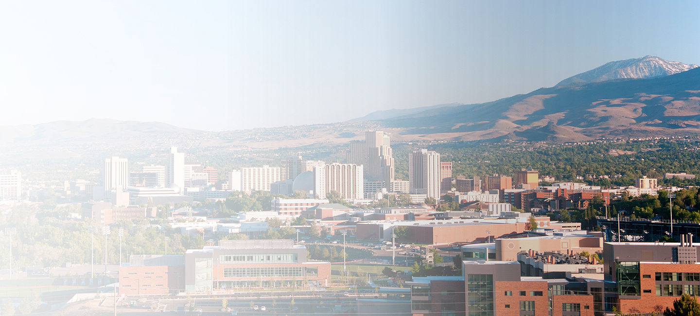 Skyline of greater Reno