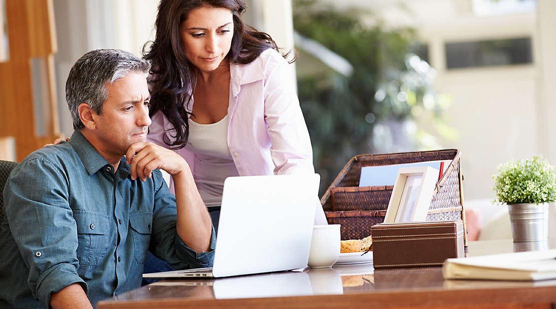 couple pondering retirement savings