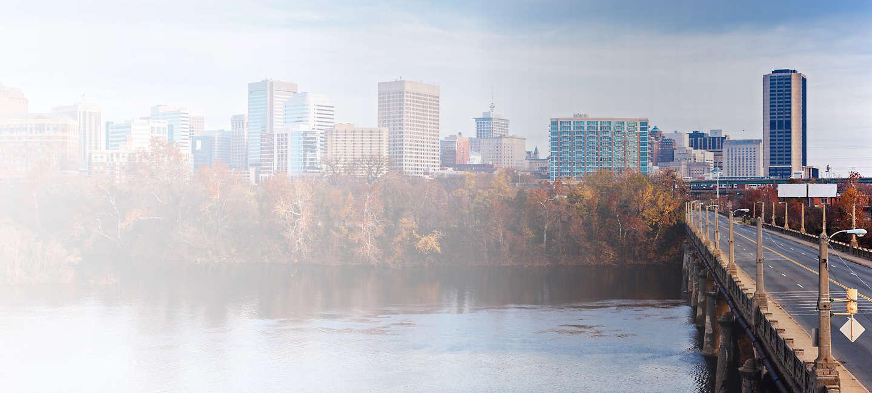 Skyline of greater Richmond
