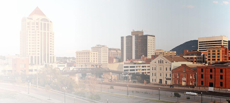 Skyline of greater Roanoke