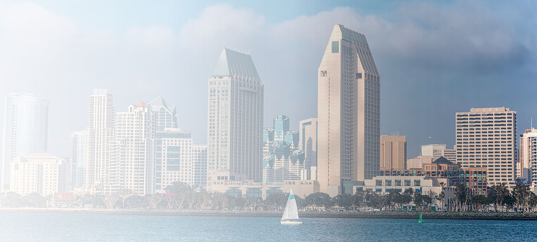 Skyline of greater San Diego
