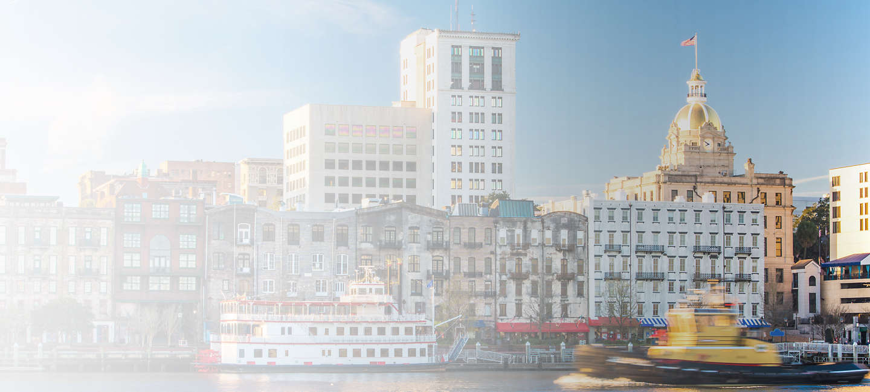 Skyline of greater Savannah