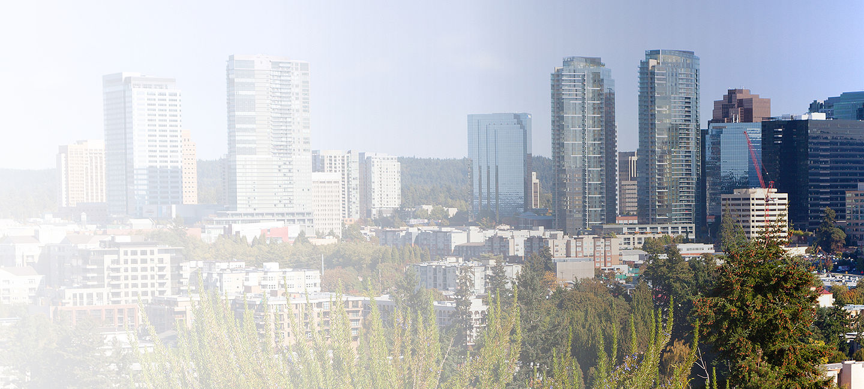 Skyline of greater Seattle