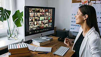 Woman on a video conference