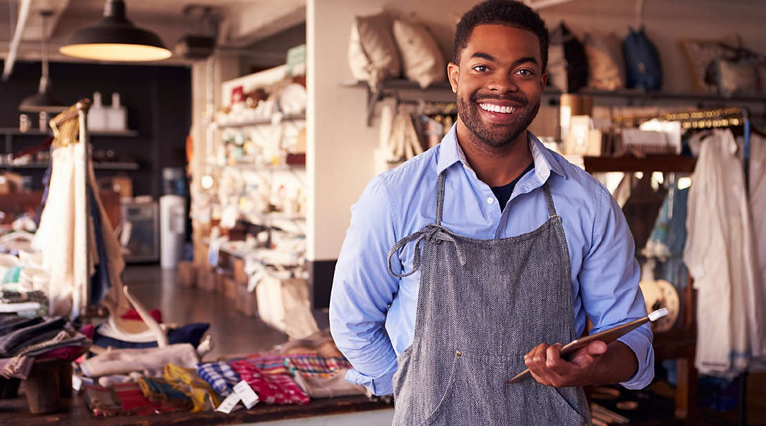 Small business owner at workshop