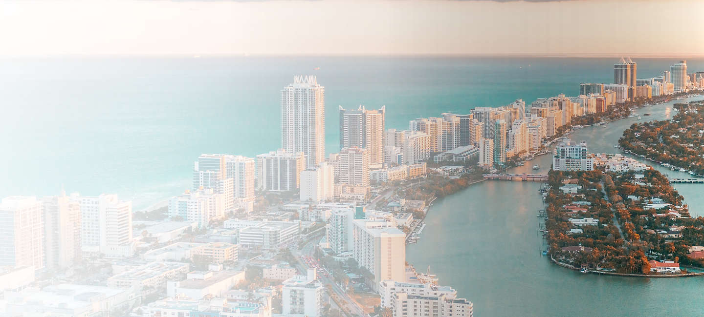 Skyline of greater South Florida