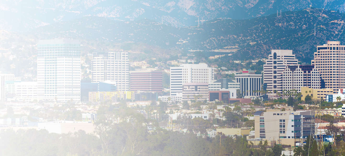 Skyline of greater Southern California