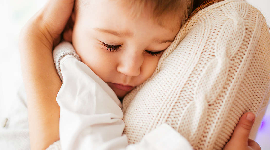 child getting hug
